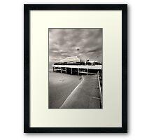 Pier at Burnham Framed Print