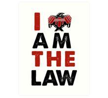 I am the law [colour] Art Print