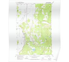 USGS Topo Map Washington State WA Valley 244427 1965 24000 Poster