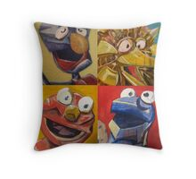 sesame street abstract Throw Pillow