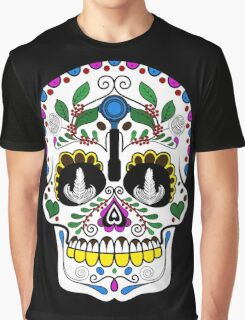 Mexican Coffee Skull Graphic T-Shirt