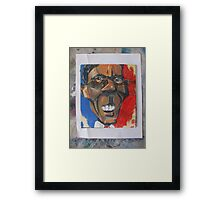 obama abstract Framed Print