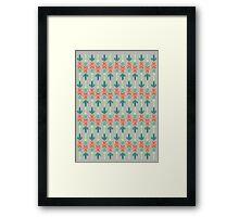 Barista Pattern Framed Print