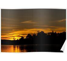 Sunset By Lake Ontelaunee Poster