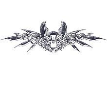 Steampunk silver bat by Angelaook