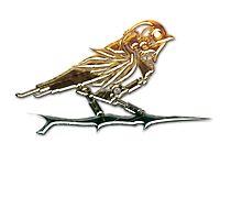 Steampunk bronze finch by Angelaook