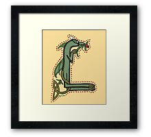 Celtic Oscar letter L (New Manuscript version) Framed Print