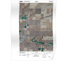 USGS Topo Map Washington State WA Connell 20110404 TM Poster