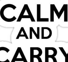 Keep Calm and Carry Holy Water Sticker