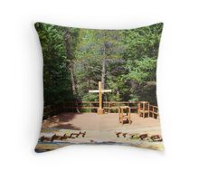 Chapel in the Forest Throw Pillow