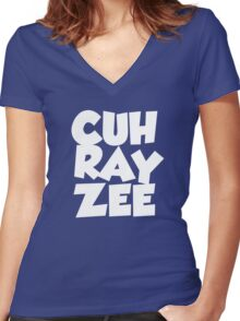 cuh ray zee Women's Fitted V-Neck T-Shirt