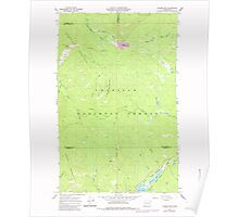 USGS Topo Map Washington State WA Aladdin Mtn 239767 1967 24000 Poster