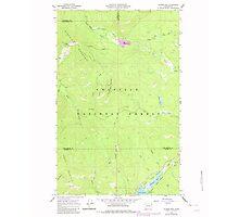 USGS Topo Map Washington State WA Aladdin Mtn 239767 1967 24000 Photographic Print