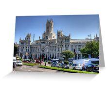 Cibeles Palace Greeting Card