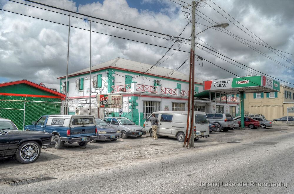 Bay Street Garage on Dowdeswell Street in Nassau, The Bahamas by Jeremy Lavender Photography