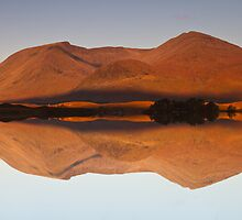 Reflections at Lochan na h-Achlaise, Scotland by Gabor Pozsgai