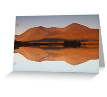 Reflections at Lochan na h-Achlaise, Scotland Greeting Card
