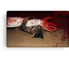 Blood Bath In Paradise Canvas Print