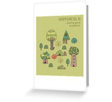 Forest neighbors Greeting Card