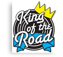 KING of the ROAD with crown Canvas Print