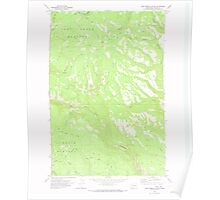 USGS Topo Map Washington State WA Lost Horse Plateau 242069 1970 24000 Poster
