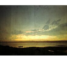sunset over the marsh Photographic Print