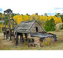 Abandoned Mine in Autumn  Photographic Print