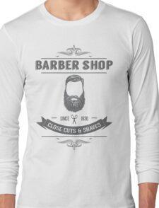 Vintage Barber Shop Long Sleeve T-Shirt