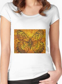 Stamped Tile 1029 Women's Fitted Scoop T-Shirt