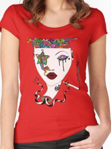 Cig Smoke Women's Fitted Scoop T-Shirt