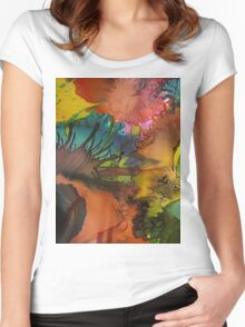 Abstract 1041 Women's Fitted Scoop T-Shirt