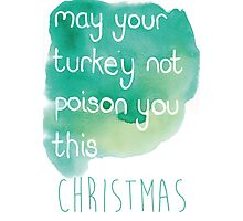 Miserable Christmas card, funny , rude , comical   Photographic Print