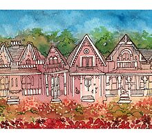 gingerbread houses by Liz  O'Connor