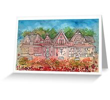 gingerbread houses Greeting Card