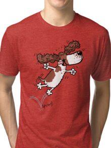 Springy Spaniel (brown) Tri-blend T-Shirt