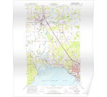 USGS Topo Map Washington State WA Ferndale 241133 1952 24000 Poster