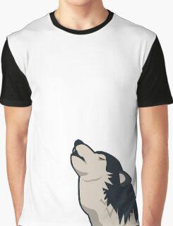 Howling wolf emoji Graphic T-Shirt