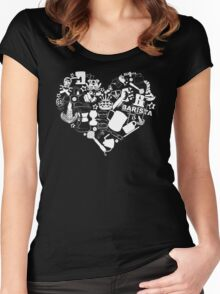 Barista Love Women's Fitted Scoop T-Shirt
