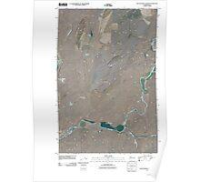 USGS Topo Map Washington State WA Rattlesnake Canyon 20110404 TM Poster