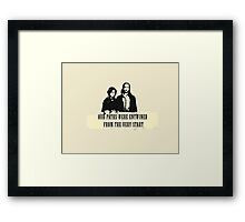 Our paths were entwined from the very start. Framed Print