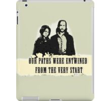 Our paths were entwined from the very start. iPad Case/Skin