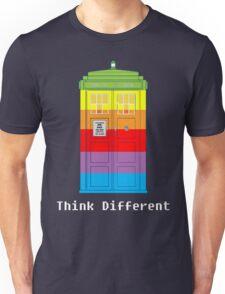 Think Tardis Different. Unisex T-Shirt