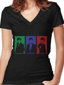 Sherlock, Doctor, Potter Women's Fitted V-Neck T-Shirt