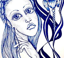 Blue Orchid by Lenora Brown