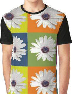 White African Daisy Collage On Bright Background Graphic T-Shirt