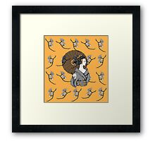 Vecta Geisha Framed Print