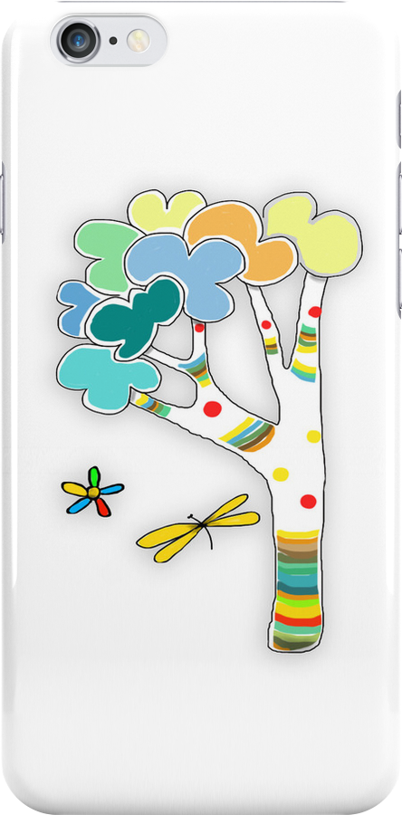 rainbow tree iPhone and iPad case by © Karin Taylor