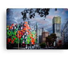 Pixel Building, worlds 2nd most ugliest building. Canvas Print