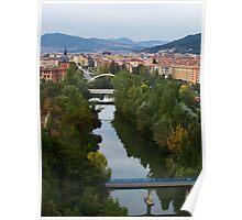 Arga River Across Pamplona Poster