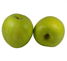 Green Apples on White by photoshot44